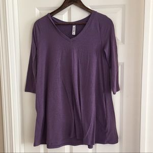 Tops - Purple Swing Tunic